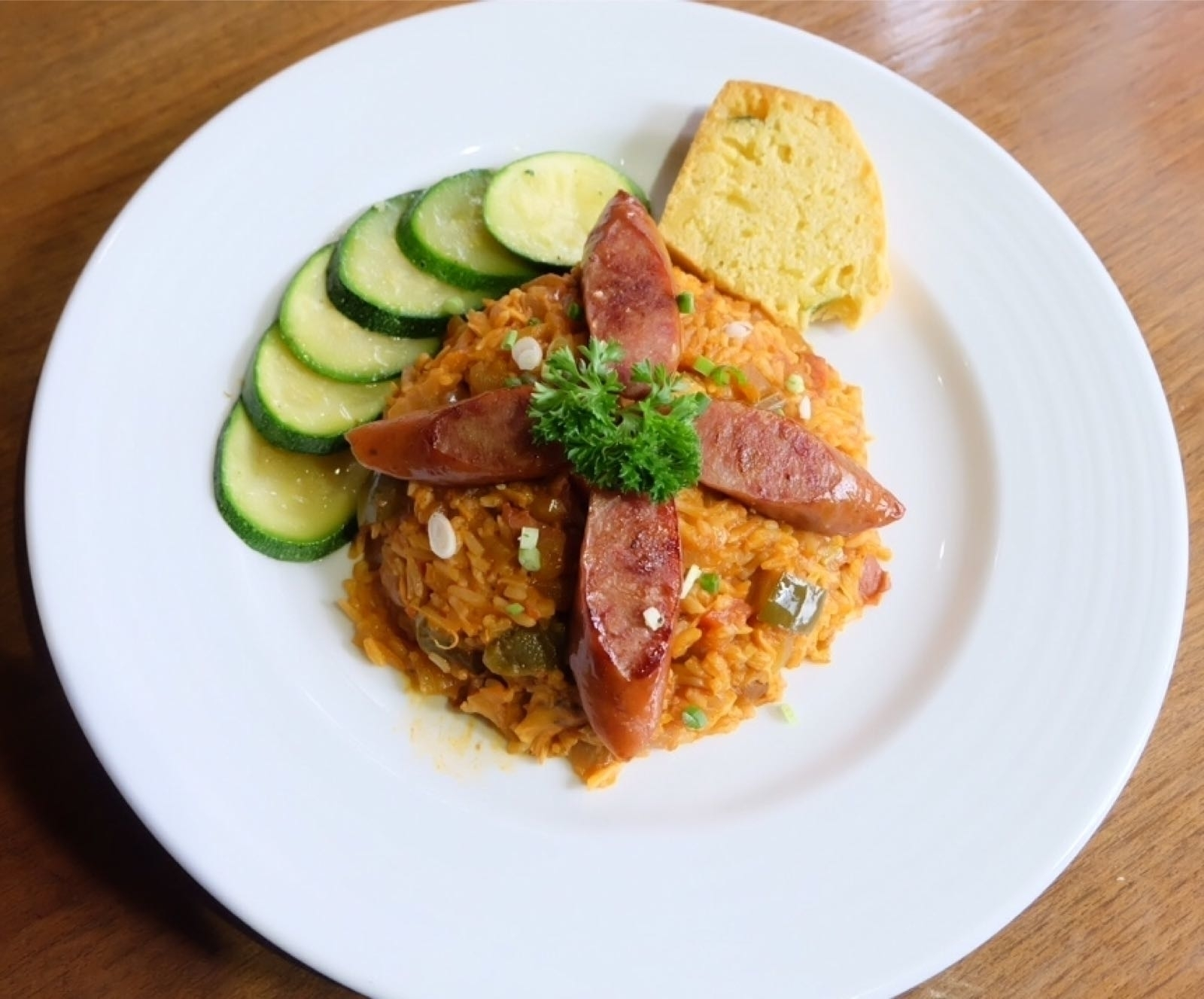 Jambalaya with Chicken & Andouille Sausage 225.-