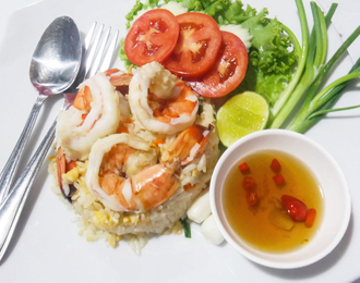 Shrimp fried rice 280.-