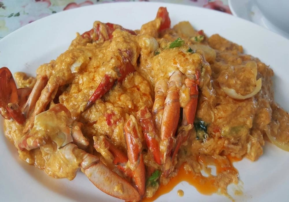 Crab meat with curry powder 450.-