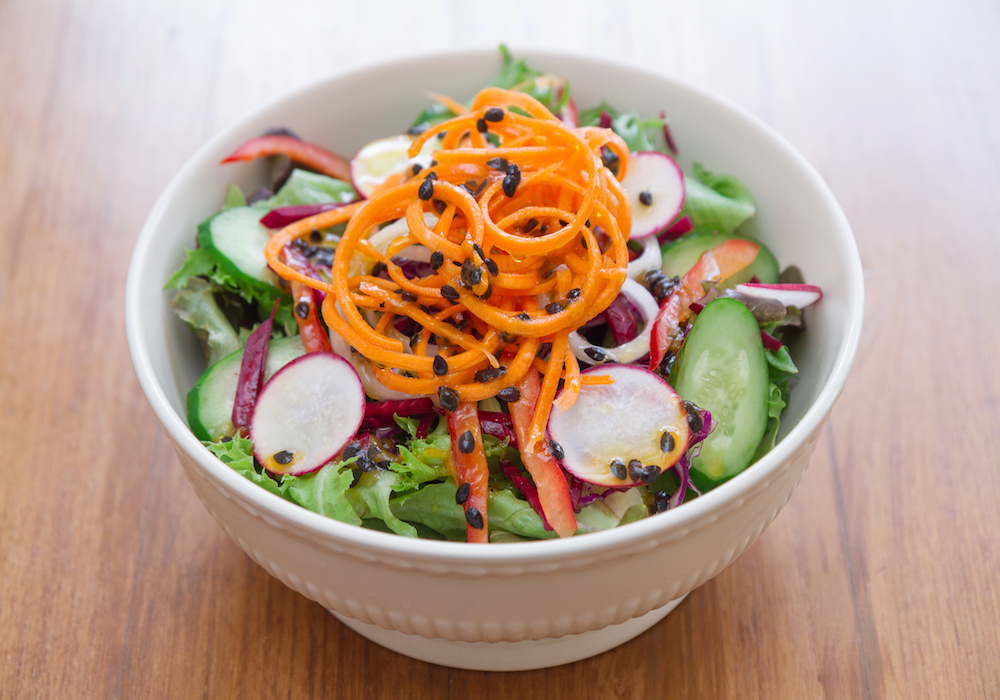 House salad with passion fruit vinaigrette