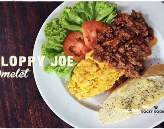 Sloppy joe omelet 200.-